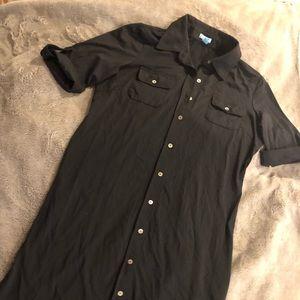 J McLaughlin Black Jersey Shirt Dress